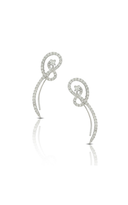 Dove's: Lady's 18 Karat White Gold Free Form Fashion Diamond Earrings 150-1581 product image