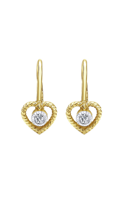 Gabriel & Co.: Lady's Yellow 14 Karat Secret Garden Earrings 150-1852 product image