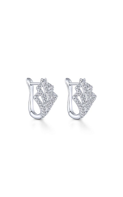 Gabriel & Co.: Lady's 14 Karat White Gold Huggie Earrings 150-1888 product image