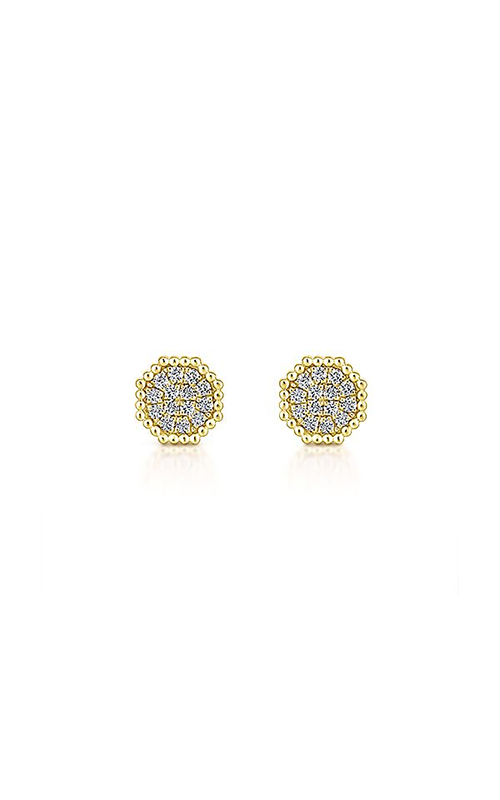Gabriel & Co.: Lady's 14 Karat Yellow Gold Stud Earrings 150-1901 product image