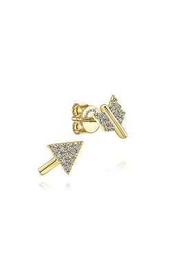Gabriel & Co.:Lady's 14  Karat Yellow Gold Two Piece Arrow Diamond Stud Earrings 155-1550 product image
