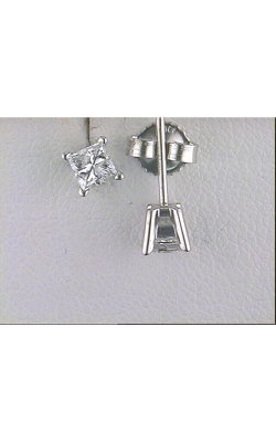 One Pair Of 14 Karat White Gold Stud Earrings 155-740 product image