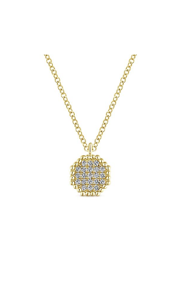 Gabriel & Co.: Lady's 14 Karat Yellow Gold Octagonal Pendant 160-3343 product image