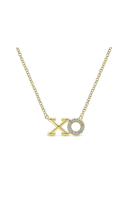 Gabriel & Co.:Lady's 14 Karat Yellow Gold XO Diamond Fashion Necklace 165-530 product image