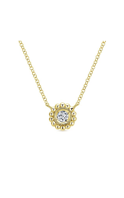 Gabriel & Company: Lady's 14 Karat Yellow Gold Bujukan Necklace 165-605 product image