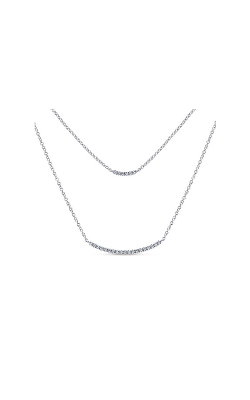 Gabriel & Company: Lady's 14 Karat White Indulgence Bar Necklace 165-612 product image