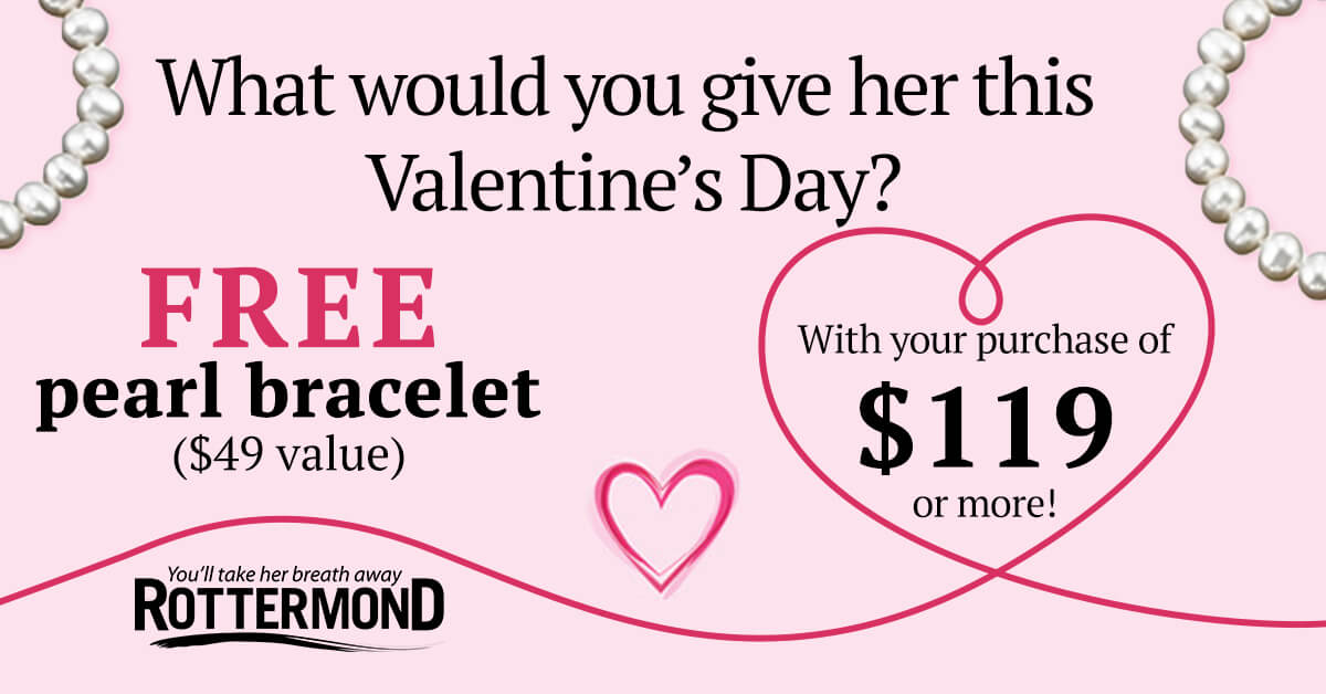 Free Bracelet for Valentine's Day at Rottermond!